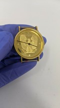 The Franklin Mint Vintage Gold Eagle Watch Swiss Made, 1986 (No band inc... - $193.05