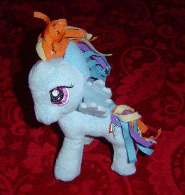 "My Little Pony G4 Rainbow Dash Plush plushie 5.5"" tall pegasus Funrise Hot Topic"