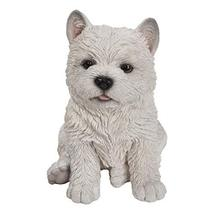 Pacific Giftware PT Realistic Look White West Highlands Westie Puppy Dog Home De - $24.74
