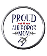Mom Proud Of USAF Air Force  Support US Military 18MM - 20MM Snap Jewelr... - $5.95