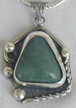 Green agate pendant PL1 - $49.00