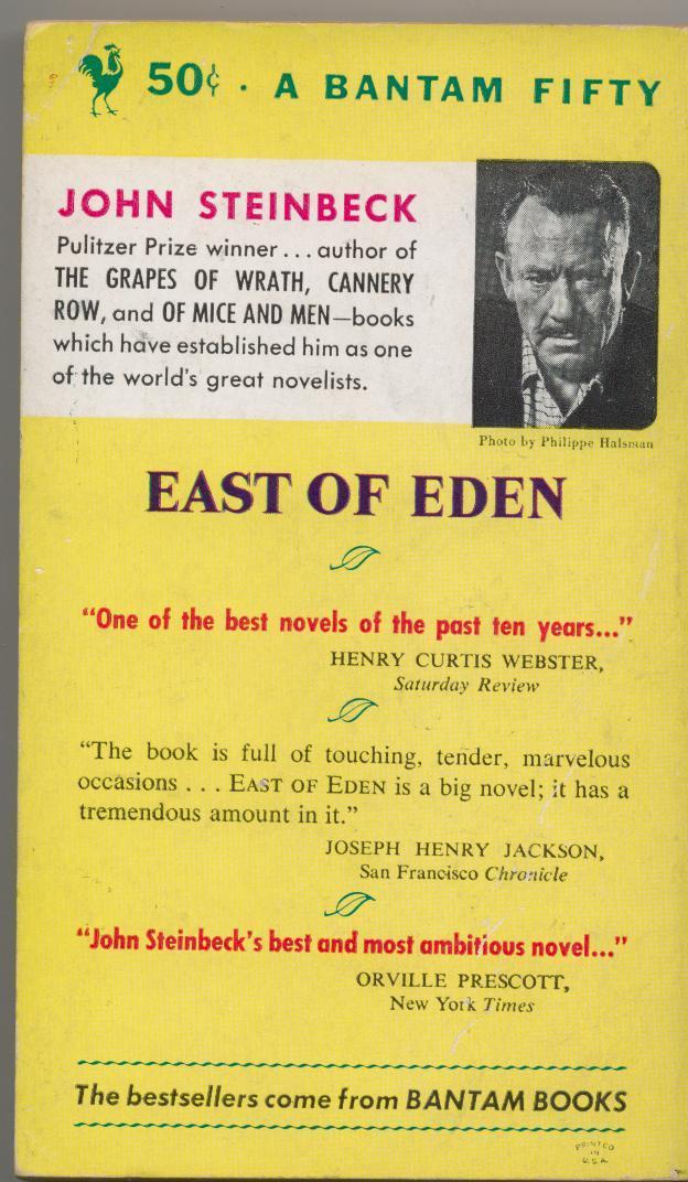 John Steinbeck - EAST OF EDEN - 1954, 1st paperback printing