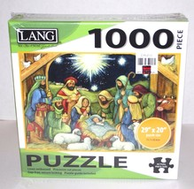Lang Christmas Nativity Jigsaw Puzzle 1000 Pieces Linen Embossed Include... - $18.69