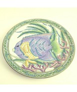 "Sea Garden by Siddhia Hutchinson Angelfish Decorative Charger Plate 12"" ... - $38.48"