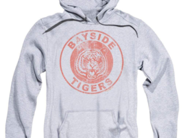 Bayside Tiger's saved by the Bell Retro 80's teen sitcom graphic hoodie NBC143 image 2