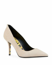 Versace Suede Pumps Shoes with Baroque Sole Size 40 MSRP: $625 - $366.30