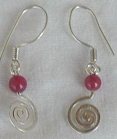 Red greek earrings