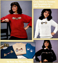 Counted Cross Stitch More Sweater Book For Cross Stitchers Leisure Arts #426 - $4.00