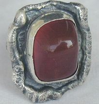 Red hand made ring HMA   - $42.00