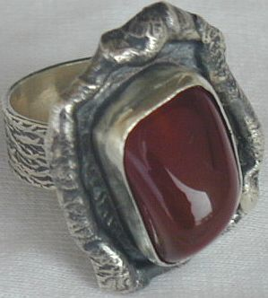 Red hand made ring HMA