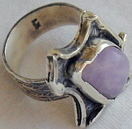 Amethyst crystal ring Hmd