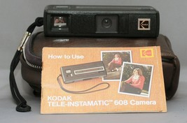 Kodak Pocket TELE-Instamatic 608 Vintage FILM Camera with Manual and Cas... - $12.60