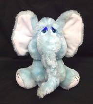 "Russ Poof Elephant Small 7"" Plush Blue White Sad Eyes Stuffed Animal Vin... - $12.95"