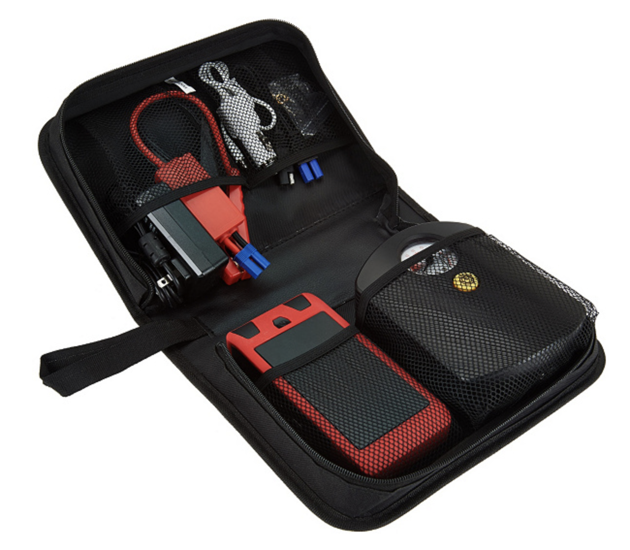 Primary image for QueBoost 41Wh Car Jump Starter Flashlight with Air Compressor Set in Case - NWOT