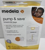 Medela Pump & Save Breastmilk Bags 20ct and 2 Adapters - $7.91