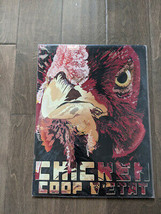 """16"""" Chicken Coop ROOSTER 3d cutout retro USA STEEL plate display ad Sign - $68.60"""