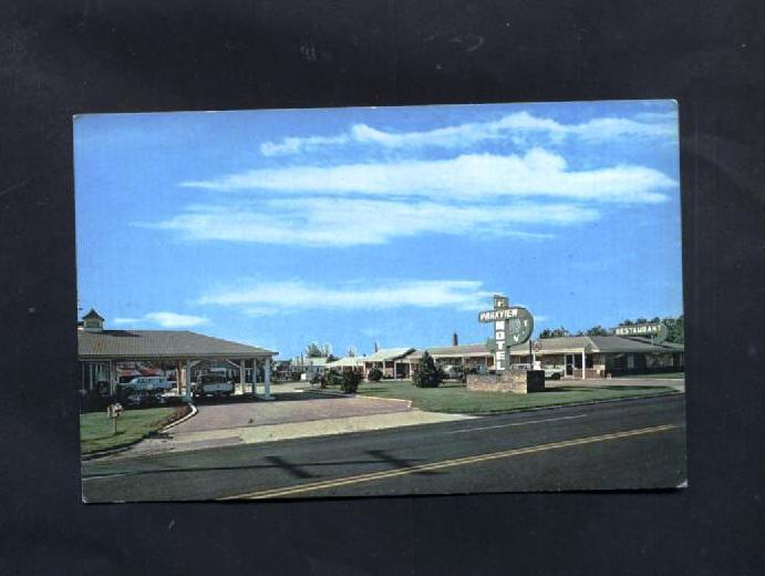 Primary image for Vintage Postcard Parkview Motel Camden SC Old Cars