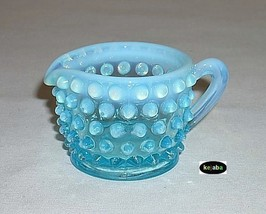 Fenton Blue Opalescent Hobnail Individual Creamer - $14.95