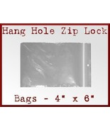 100 Zip Lock Top Recloseable Bags with Hang Hol... - $8.98