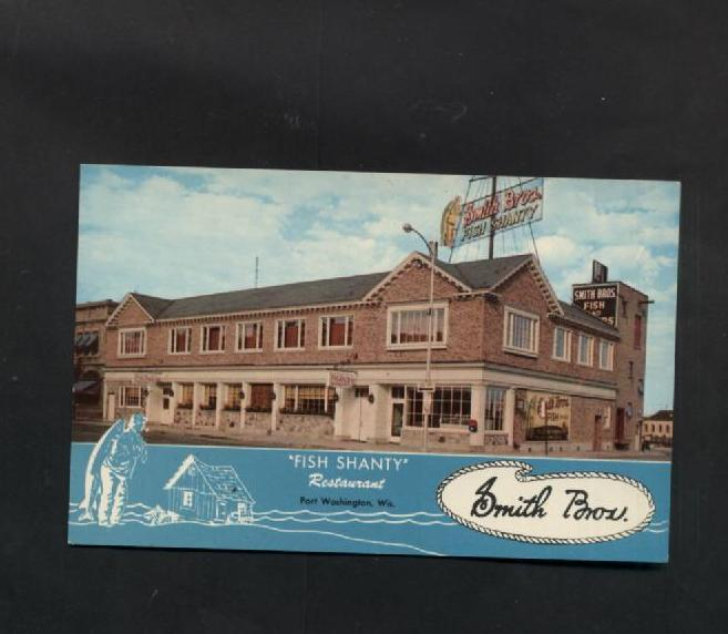Primary image for Vintage Postcard Smith Brothers Fish Shanty Restaurant Post Washington WI