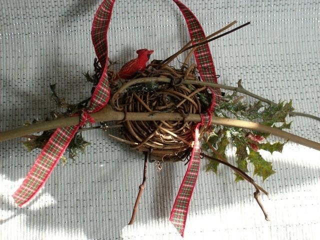 Vintage CHRISTMAS BIRDNEST Ornament - Very Unique Piece!