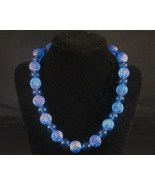 "Dark Blue Acrylic Plastic Fashion Jewelry 17"" necklace - $10.99"