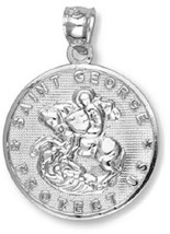 925 Sterling Silver Saint George Pendant - Weight: 2.20 Grams - $44.05