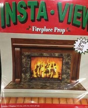 Fireplace Insta-View 5 Foot Wall Cover Christmas Photo Prop background - $9.89