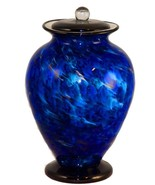 Large/Adult 220 Cubic Inch Venice Water Funeral Glass Cremation Urn for ... - $529.99
