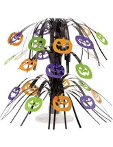 Party Central Pack of 12 Multicolored Halloween Pumpkin Faces Cascading ... - £63.75 GBP
