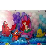 Birthday Decoration Ariel Little Mermaid Wood Standees Photo Props One c... - $84.99