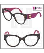 GUCCI 0103 Havana Pink Glitter Gold RX Eyeglasses Optical Frame GG0103O ... - $287.10