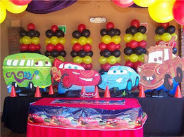3 feet  Cars Birthday party Centerpiece Wood St... - $49.99