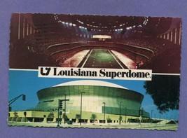 Vintage 1978 1970s Louisiana Superdome Postcard New Orleans Sports - $6.99