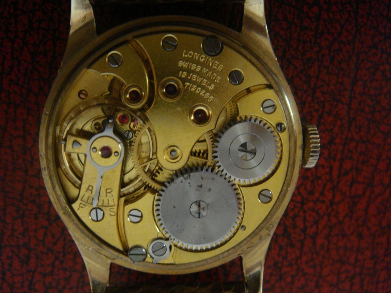excellent 9k vintage longines mens gold wristwatches