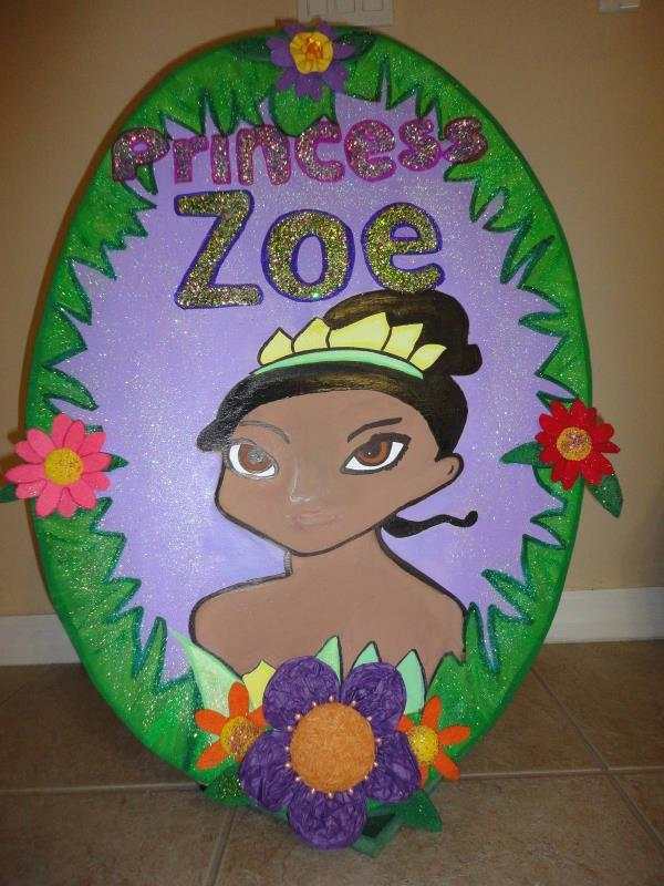 Princess and the Frog 3 feet  Birthday Party Wood  Photo Prop - one character