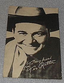 1950's Carnival Arcade Card Western Movie Star Tex Ritter