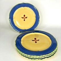 """4 Dinner Plate Pfaltzgraff The Secret of Pistoulet 11"""" Blue Band Set Jana Kolpen - $39.55"""