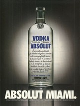 Absolut Miami Vodka Magazine Ad Spanish Text Version - $6.99