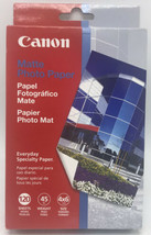 Canon 4x6 Matte Photo Paper 120 Sheets Open Box Sealed Inner Package - $11.95