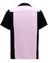 Men's Retro Classic Two Tone Guayabera Bowling Casual Dress Shirt w/ Defect - XL image 2