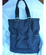 Hayden Harnett Black Nylon Leather Pan Am Tote Handbag - $70.00
