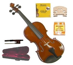 Crystalcello 1/10 Size Violin+Case+Bow+2 Sets Strings+2 Bridges+PitchPipe - $45.00