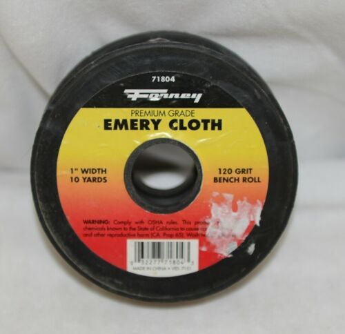Forney 71804 Emery Cloth 120 Grit Bench Roll 1 Inch Wide Ten Yards Long