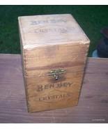 VINTAGE BEN BEY WOODEN CIGAR BOX HOLD - 25 CIGARS (CRYSTALS) - $45.00