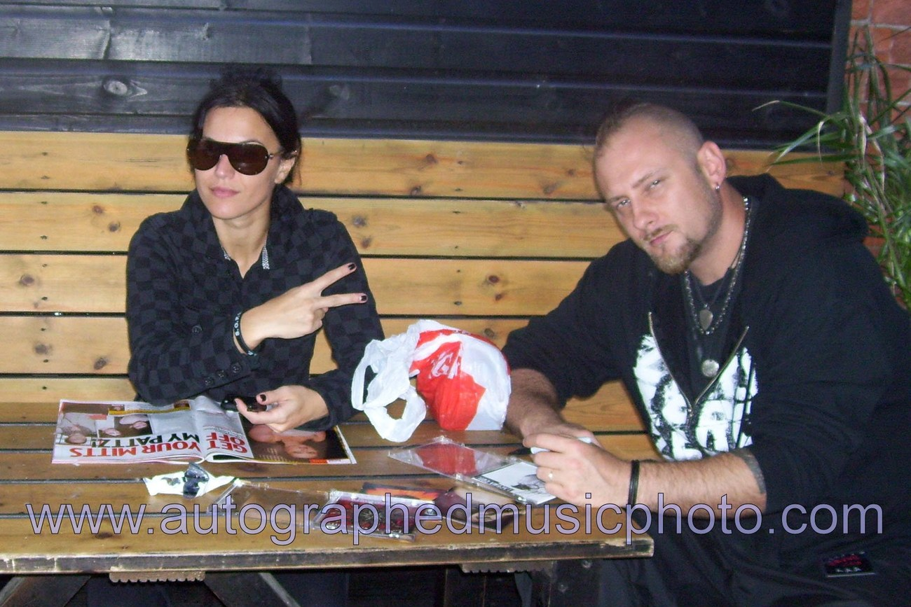 Lacuna Coil (Band) SIGNED 8 x 10 Photo + COA Lifetime Guarantee