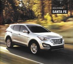 2013 Hyundai SANTA FE and SPORT sales brochure catalog US 13 GLS Limited... - $6.00