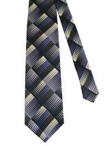 Jhane Barnes 100% Silk Tie - Navy, Gray White & Purple - $22.00