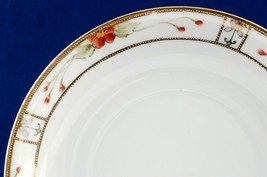 Nippon Large Saucer Handpainted Beaded Gold Border Unmarked - $6.99