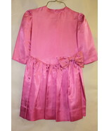 Girls Pink Satin Hand Sewn Easter Brides Maid's Dress - $14.95